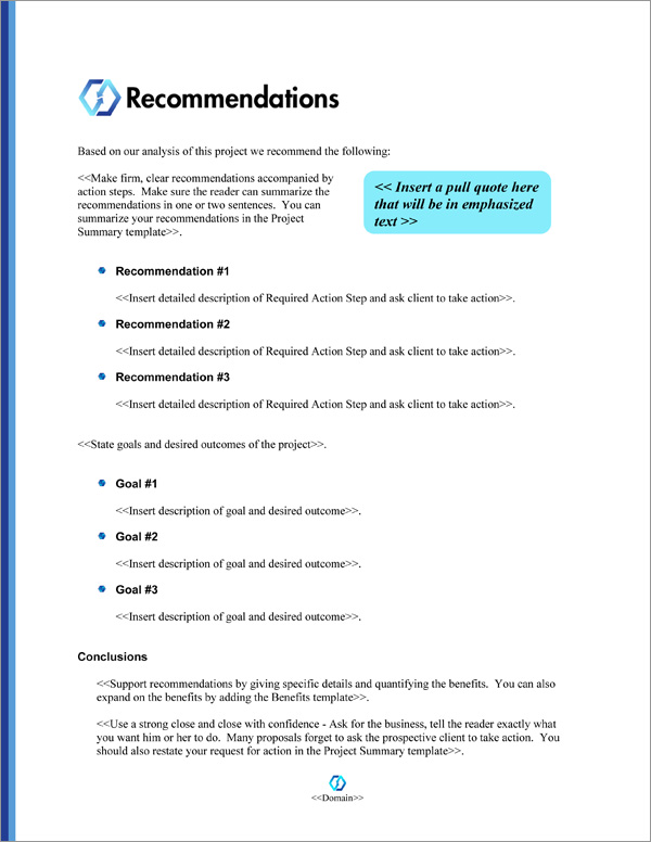 Proposal Pack Minimalist #9 Recommendations Page