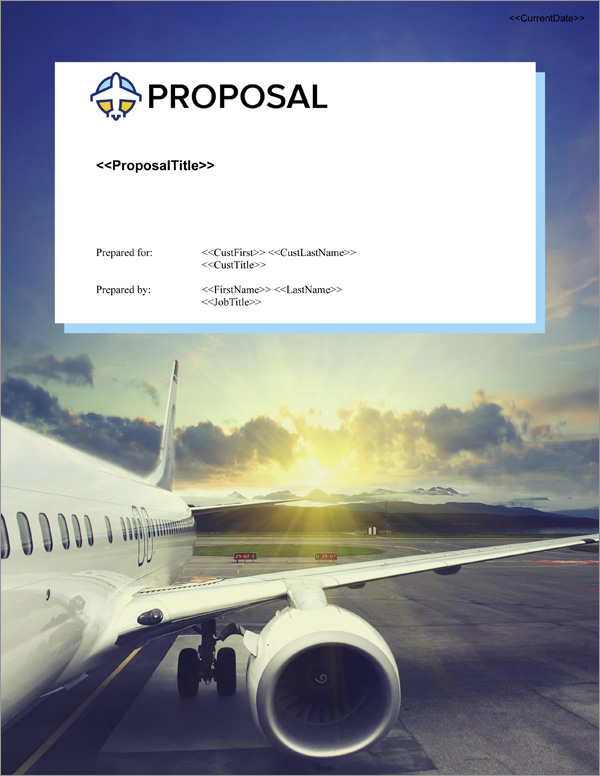 Proposal Pack Aerospace #3 Title Page