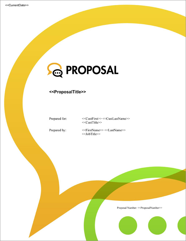 Proposal Pack Communication #3 Title Page
