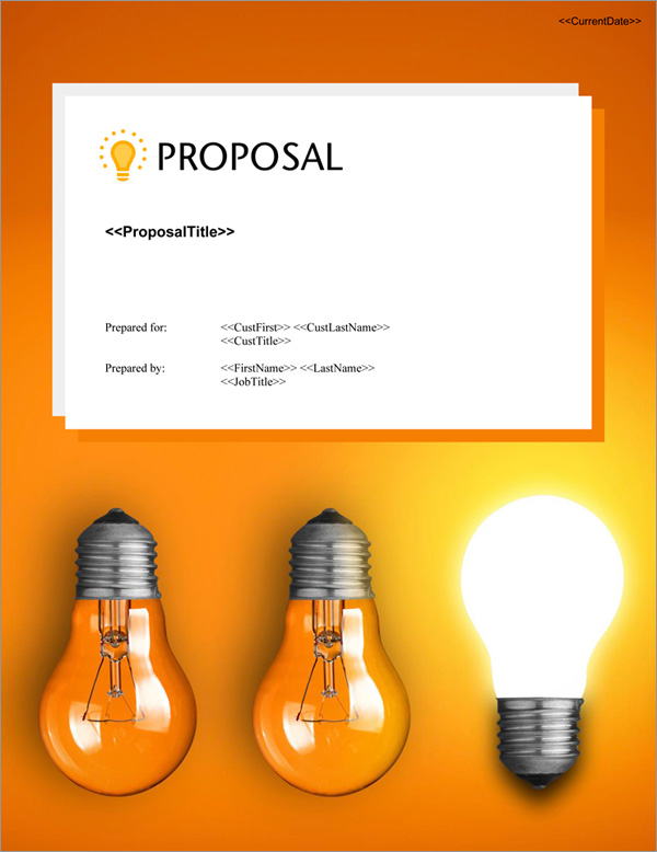 Proposal Pack Concepts #16 Title Page