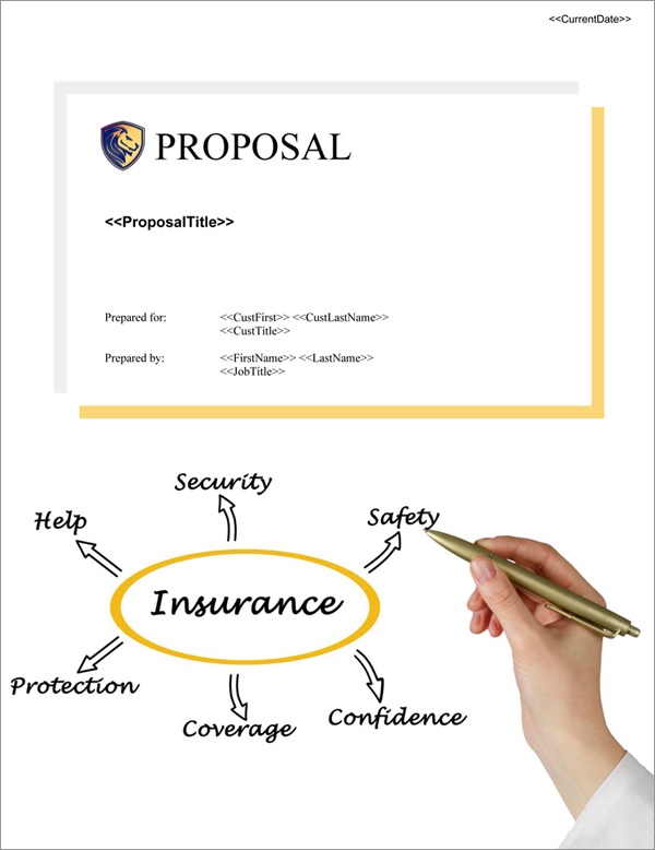 Proposal Pack Insurance #1 Title Page