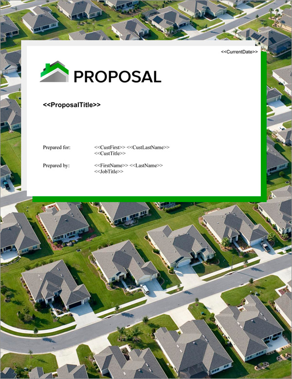Proposal Pack Real Estate #6 Title Page