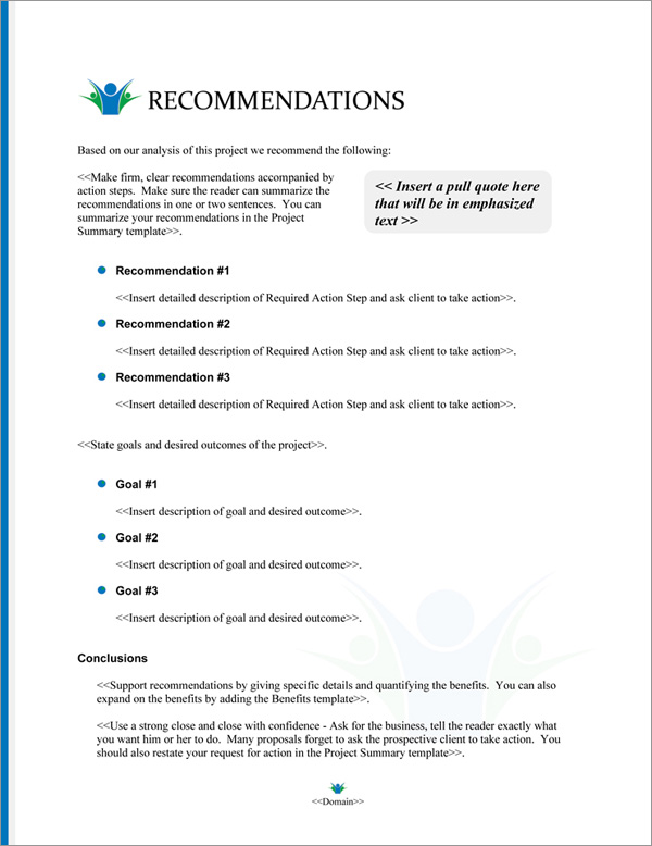 Proposal Pack Community #2 Recommendations Page