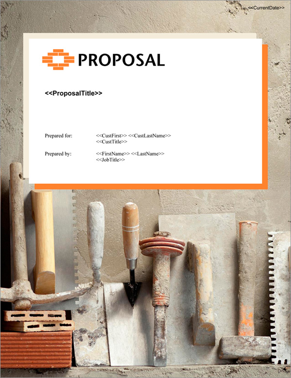 Proposal Pack Construction #8 Title Page