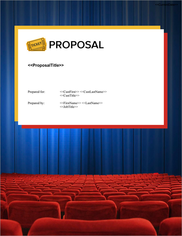 Proposal Pack Entertainment #8 Title Page