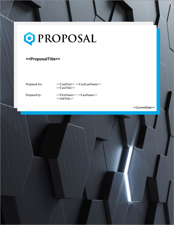 Proposal Pack Contemporary #19 Title Page