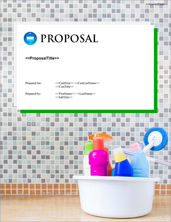 Proposal Pack Janitorial #4 Title Page