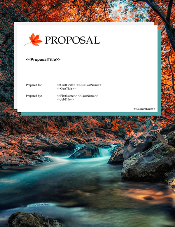 Proposal Pack Nature #8 Title Page