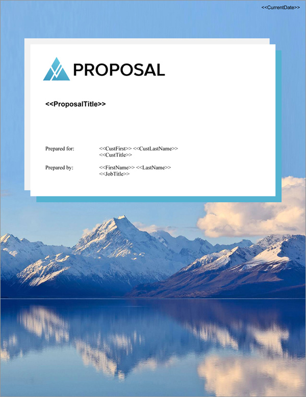 Proposal Pack Outdoors #4 Title Page