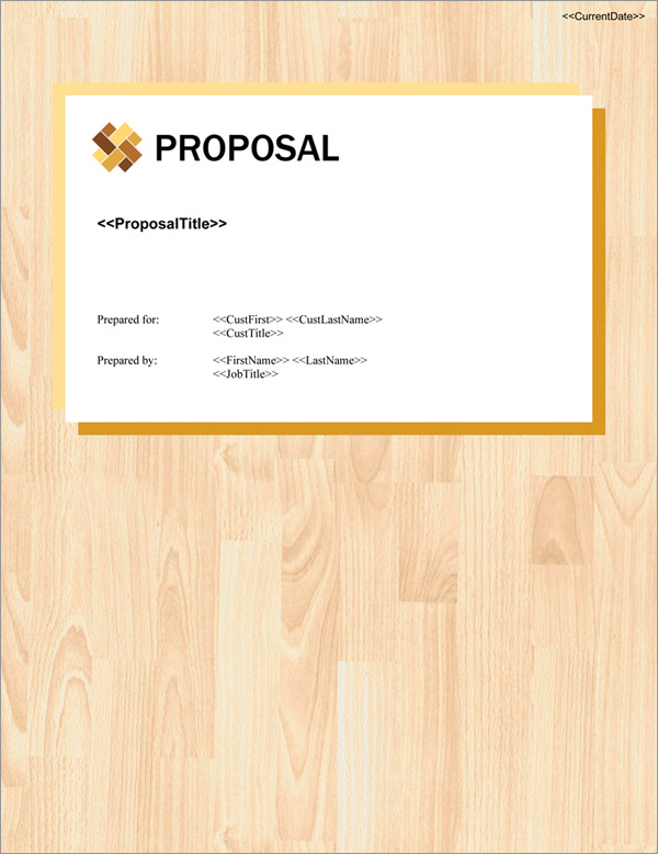 Proposal Pack Contemporary #20 Title Page