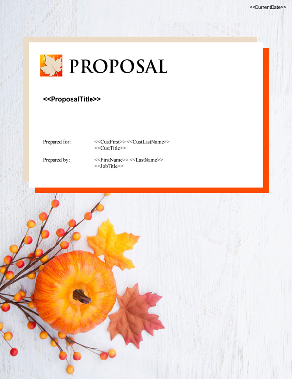Proposal Pack Seasonal #4 Title Page
