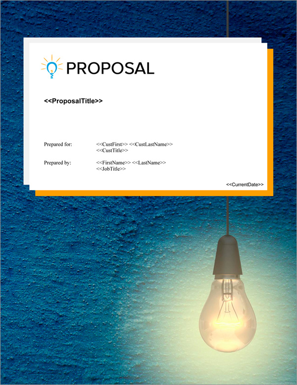 Proposal Pack Concepts #17 Title Page