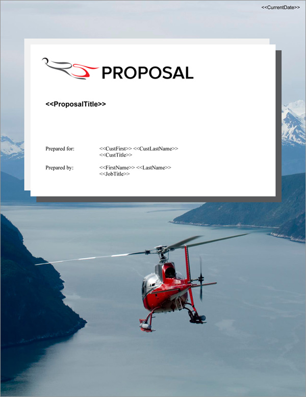 Proposal Pack Aerospace #5 Title Page
