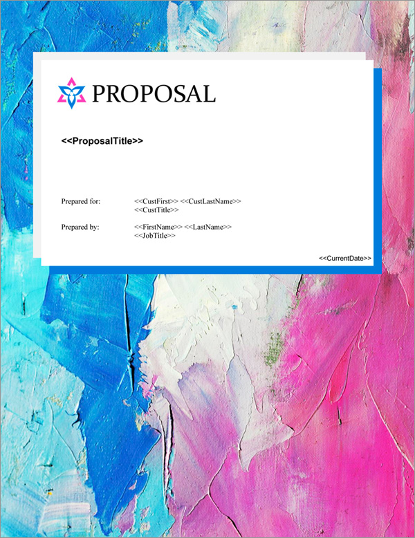 Proposal Pack Artsy #10 Title Page