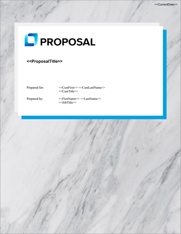 Proposal Pack Classic #19 Title Page