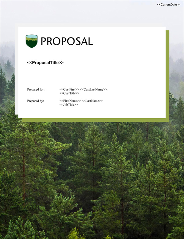 Proposal Pack Nature #9 Title Page
