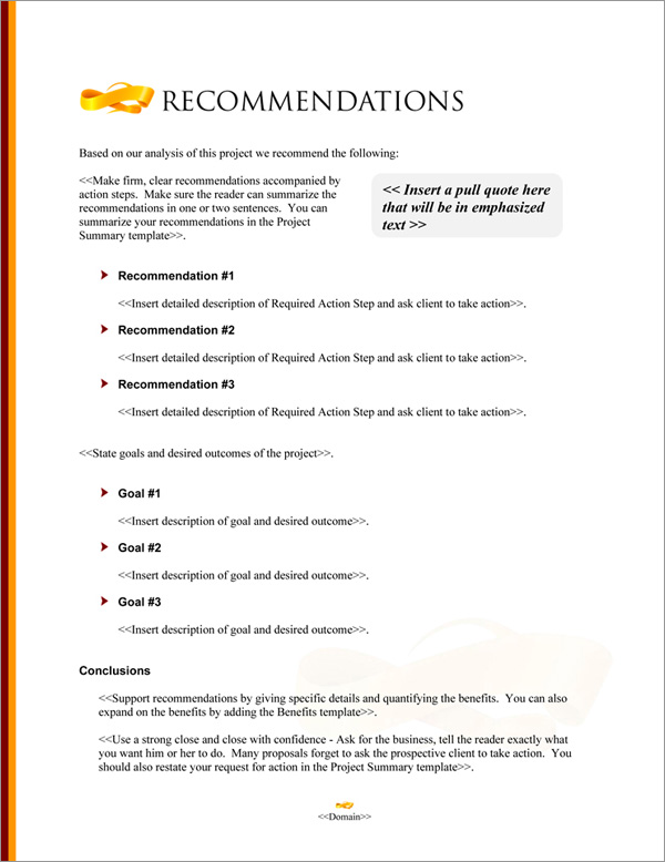 Proposal Pack Elegant #7 Recommendations Page