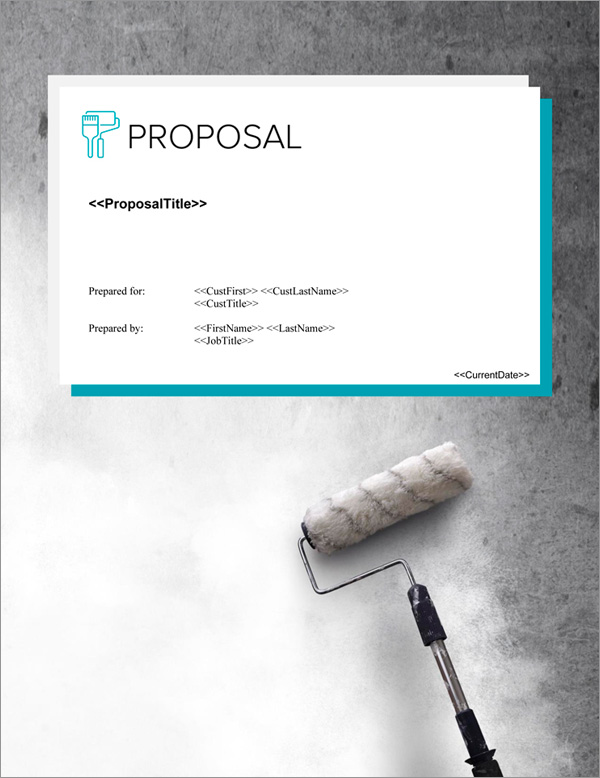Proposal Pack Painter #4 Title Page