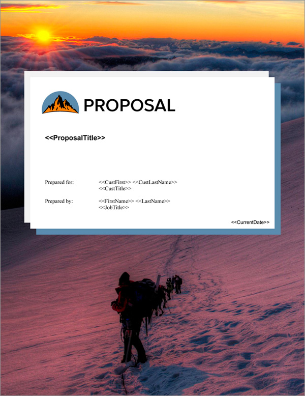 Proposal Pack Outdoors #6 Title Page