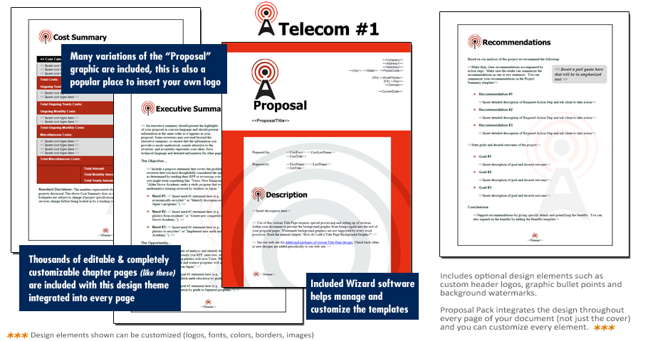 Proposal Pack Telecom #1 - Software, Templates, Samples