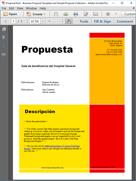 Proposal Kit Spanish Version
