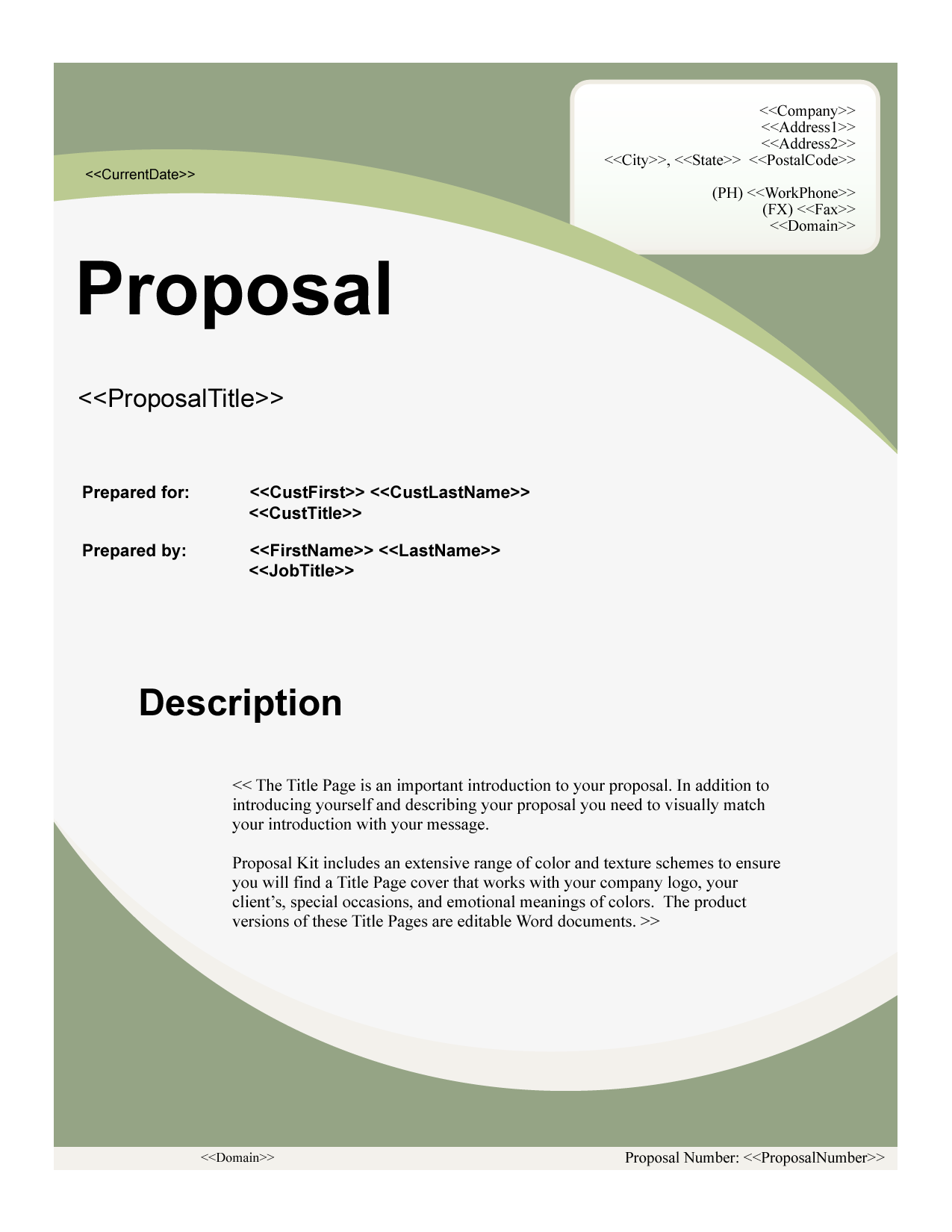title page for proposal